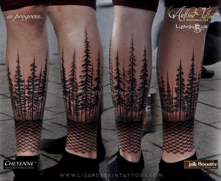 Afbeeldingsresultaat voor forest tattoo sleeve