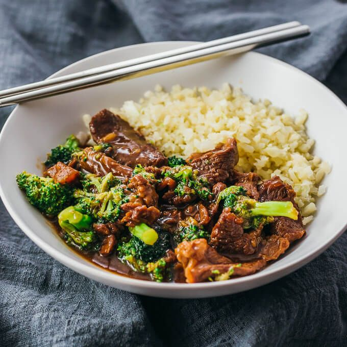 A quick beef and broccoli recipe made in the Instant Pot pressure cooker, similar to a Mongolian beef stir fry. Low carb, keto, and gluten free.
