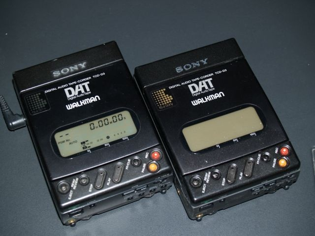 Portable DAT recorders were my dream device. Oh yeah!