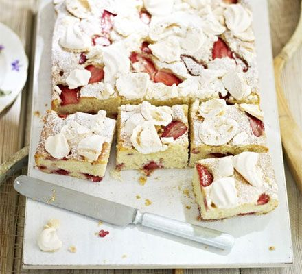 Eton mess cake - I have made this and it's fabulous!!  @Laura Summers, this is what we had at sewing class...  :D