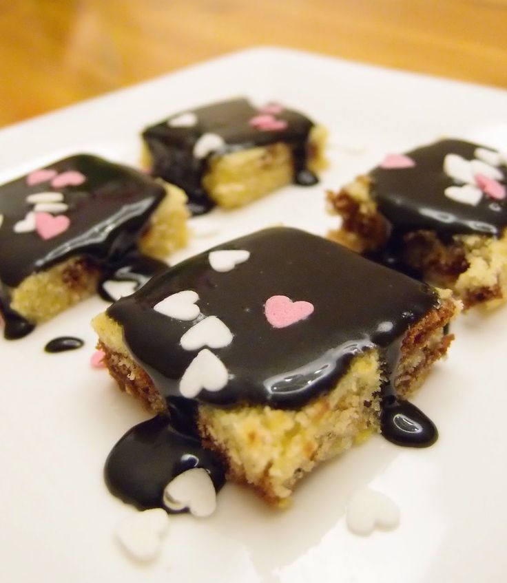 Liquorice and Lemon Squares for Valentine's Day by Tummies Full