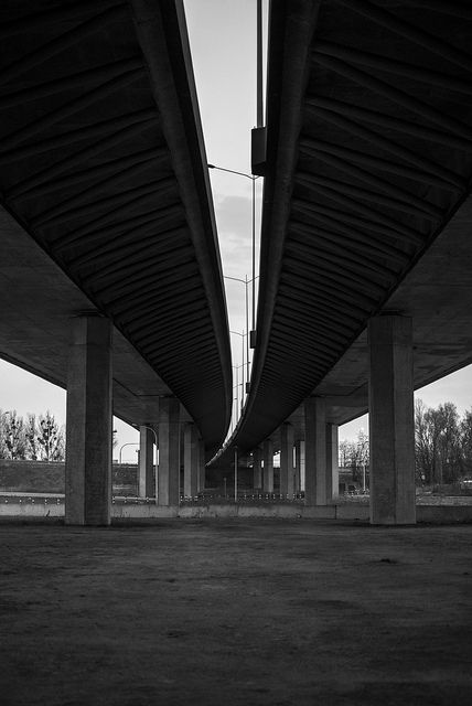 a view from the bottom of the #highway next to the football #stadium in #wroclaw