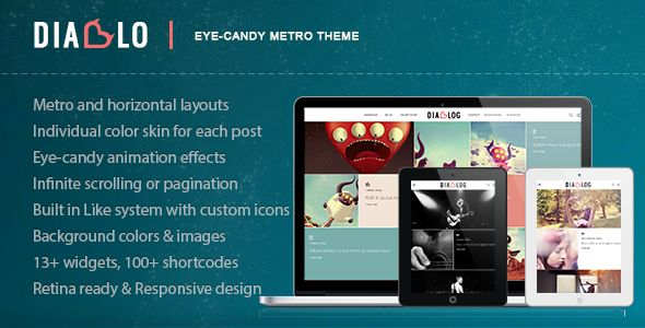 Diablo - Eye-candy Minimal Responsive WP Theme - Creative WordPress