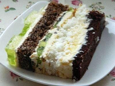 Ciasto kremowe z kiwi i ananasami
