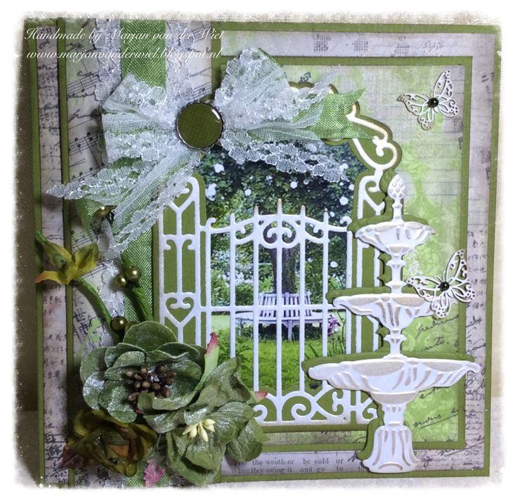 Gemaakt met materialen van Marianne Design Plaatje is van Hobbyvoordelig www.marjanvanderwiel.blogspot.nl