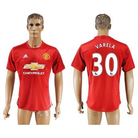 Manchester United 16-17 Guillermo #Varela 30 Hjemmebanesæt Kort ærmer,208,58KR,shirtshopservice@gmail.com