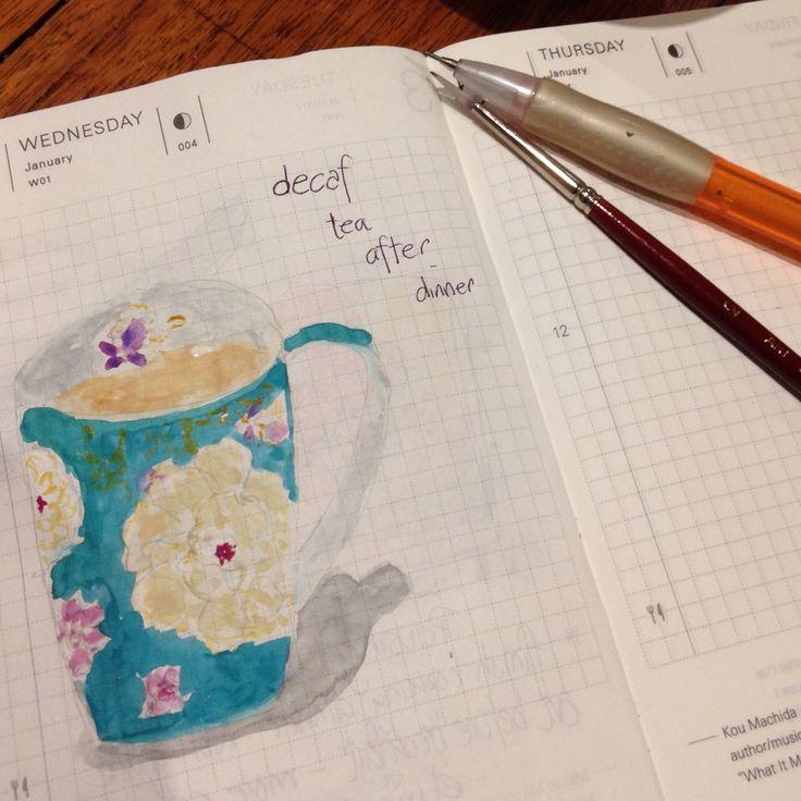 4/365 #dailysketch #gouache #sketchbook #hobonichitecho