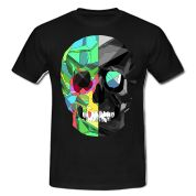Two-color skull T-shirt