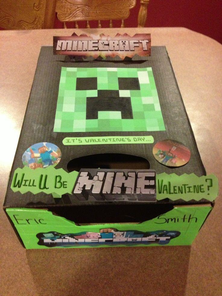 minecraft valentine box | Minecraft Valentineu0027s Day box!! Valentine IdeasValentine Box For BoysValentines ... & 47 best Valentine Boxes for Boys images on Pinterest | Valentine ...