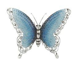 I absolutely love metal butterfly wall art. It is great for gardens, patios and even  indoors in bathrooms, kitchens and hallways.  Additionally, you can use butterfly home wall art décor in your  bedroom. Overall this is beautiful,  color and ever so cute #butterflies #wallart #homedecor      Deco Contemporary Styled Metal Butterfly