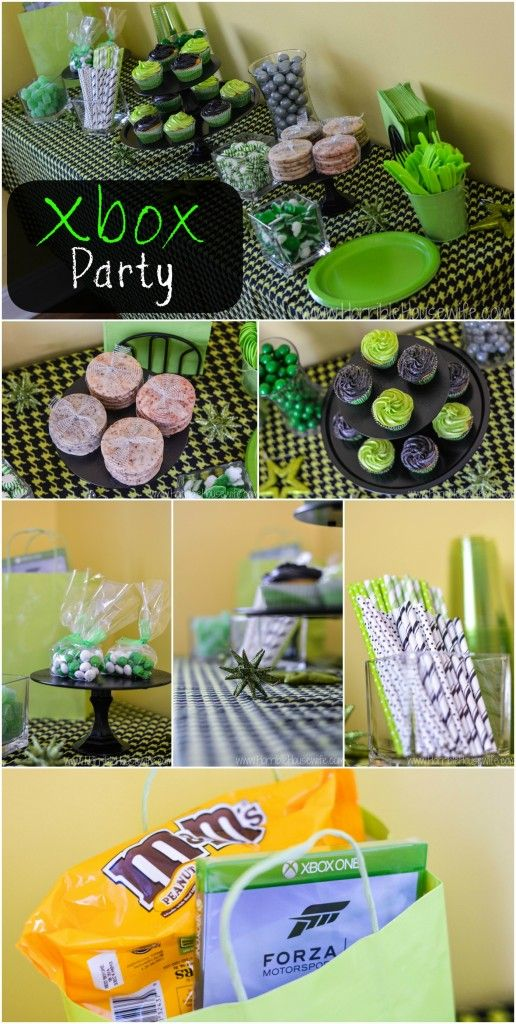 Celebrate the new Xbox One and Forza Motorsport 5 with an Xbox party- Xbox party decorations and food. #FueledbyMM #shop #cbias
