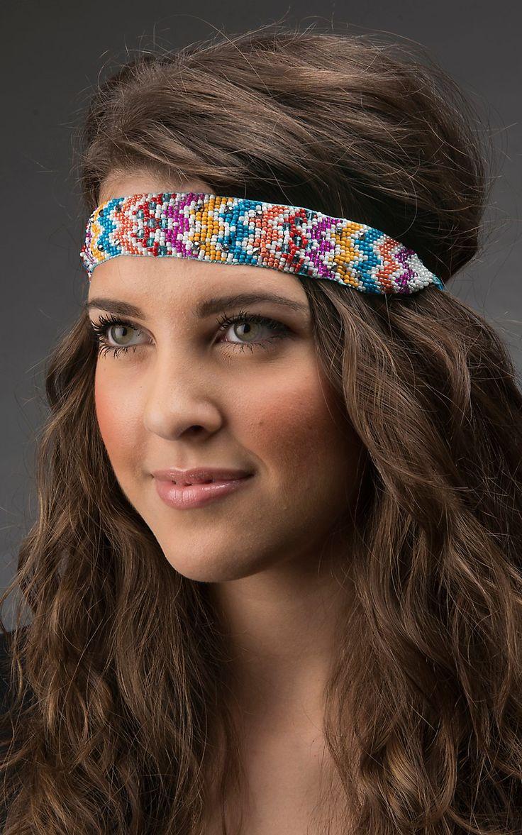 Blazin Roxx Multicolor Chevron Beaded Headband 30090