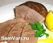 Carne de vită la cuptor bucată