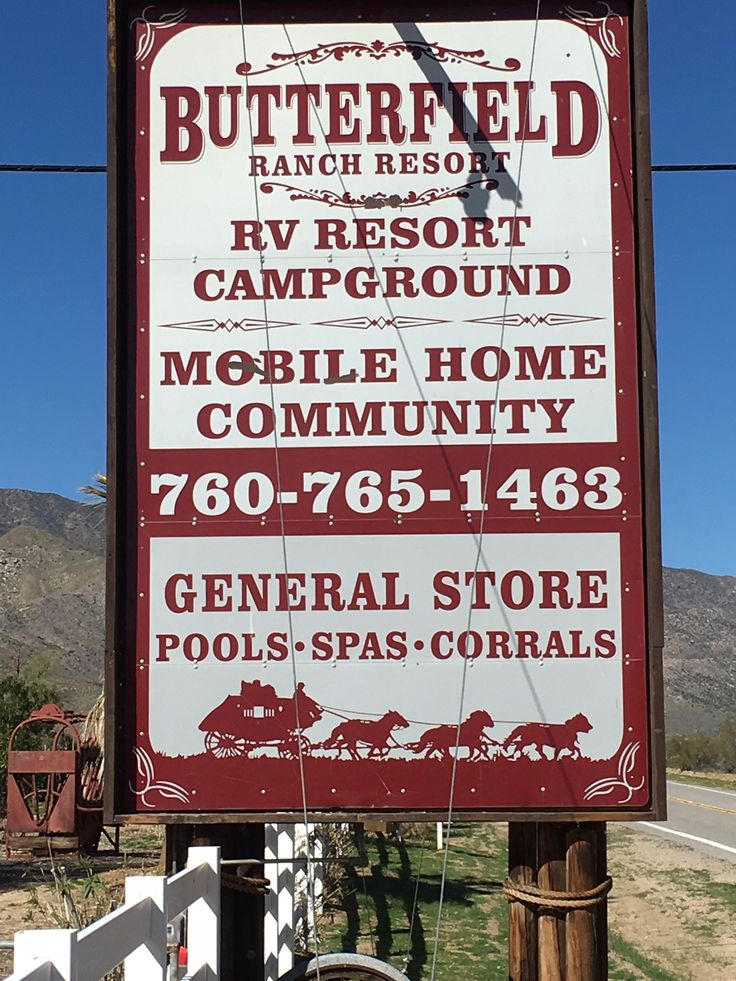 Butterfield Resort RV Ranch California