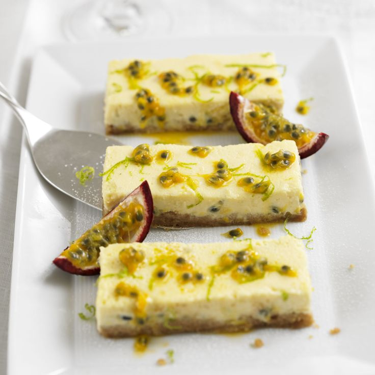 This cheesecake is baked in a rectangular tin and has a much thinner cheesecake topping that is made with cream cheese and ricotta. Great to take to a BBQ or easily transported in the tin for a picnic.