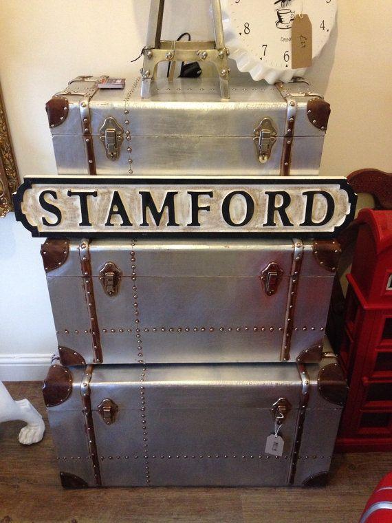 Aviator vintage industrial storage trunk by smithersofstamford