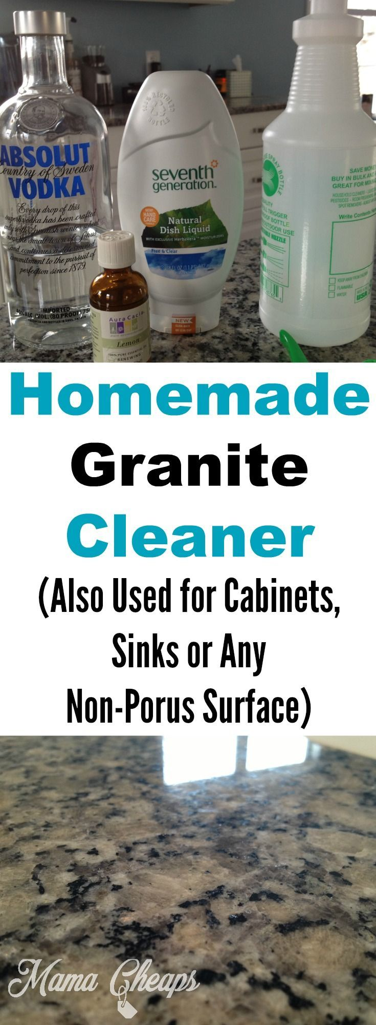Homemade Granite Cleaner on the Cheap from /MamaCheaps/ http://bit.ly/2es9T8N