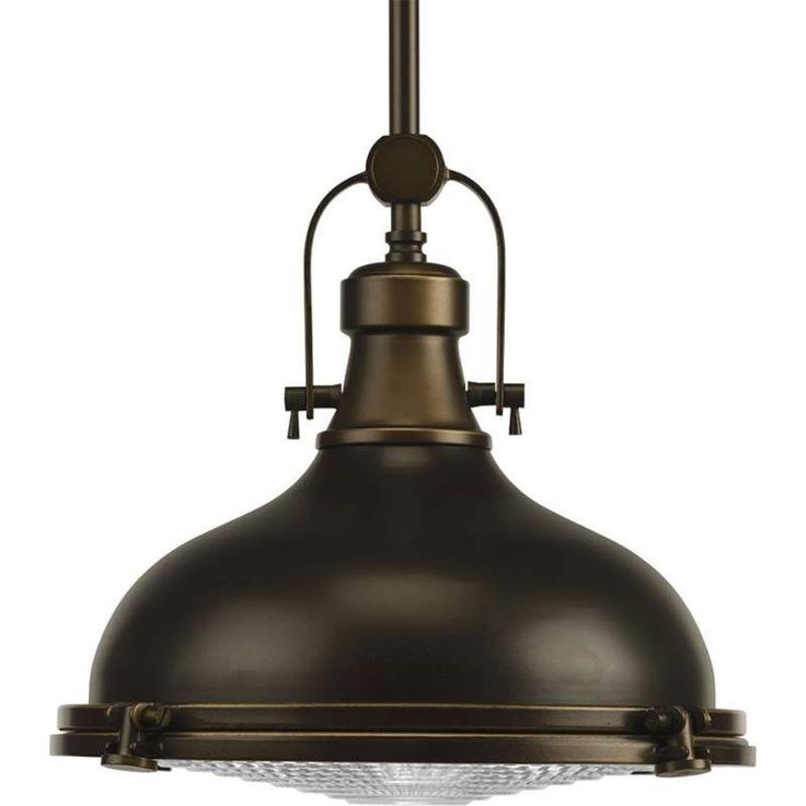 "View the Progress Lighting P5188-108 Oil Rubbed Bronze Fresnel Lens 1 Light Warehouse Pendant - 12"" Wide at Build.com."