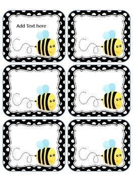This packet includes bee labels. You may print these on cardstock or full label sheets as they do not fit a certain size. This is for personal ...
