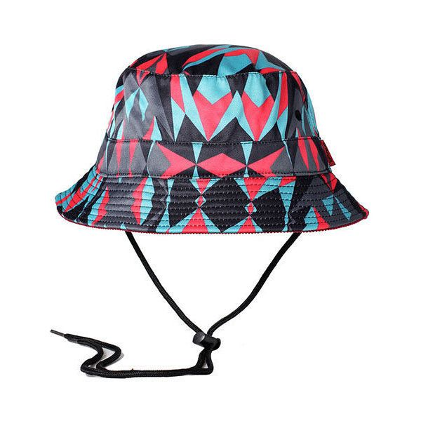 Entree LS Kaleido Bucket Hat with String ($10) ❤ liked on Polyvore featuring men's fashion, men's accessories, men's hats and multi