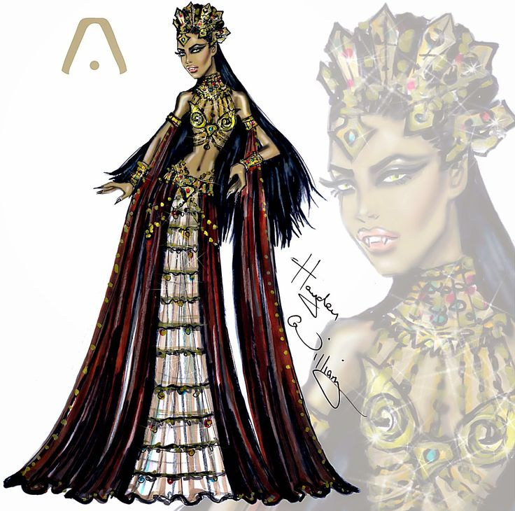 Hayden Williams Fashion Illustrations: Haute Halloween: Queen of the Damned Akasha/Aaliyah by Hayden Williams