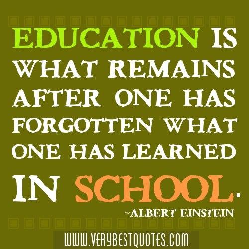 Education Quote From Albert Einstein. Www.verybestquotes