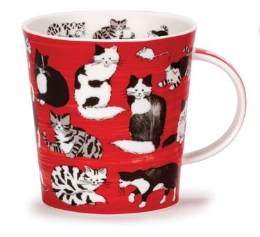Dunoon - Fine Bone China Mugs - Lomond Shape : Country Club Cat