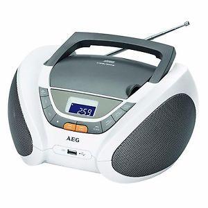 Mini chaine AEG haut parleur stéréo Radio FM 4358 CD MP3 USB horloge numérique | eBay
