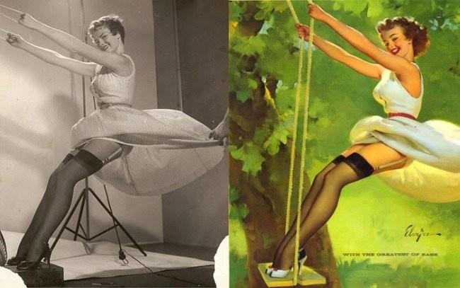 158 best images about gil elvgren on pinterest american. Black Bedroom Furniture Sets. Home Design Ideas