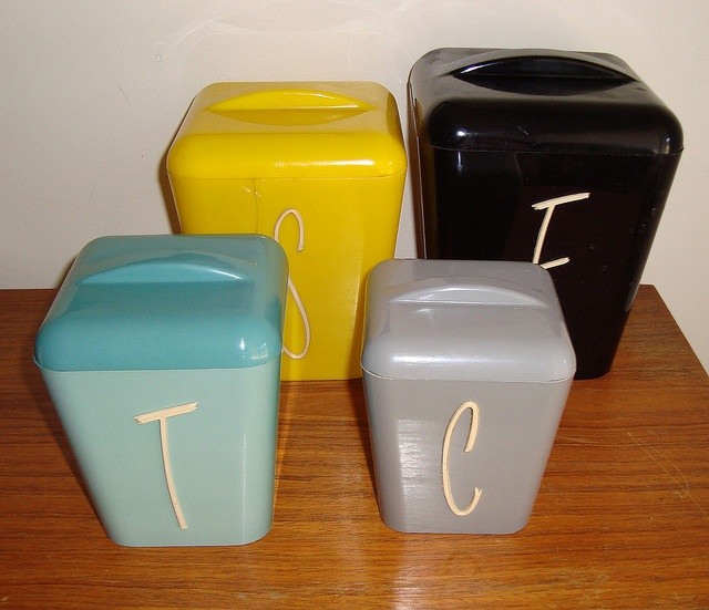 good Vintage Looking Canister Sets Part - 10: Amazing set of vintage canisters