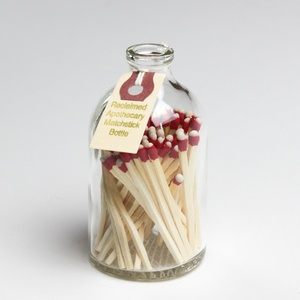 Matchstick bottle with striking surface on the bottom!: Ideas, Apothecaries Bottle, Apothecaries Matchstick, Stuff, Matchstick Bottle, Reclaimed Apothecaries, Diy, Matching Boxes, Apothecaries Jars