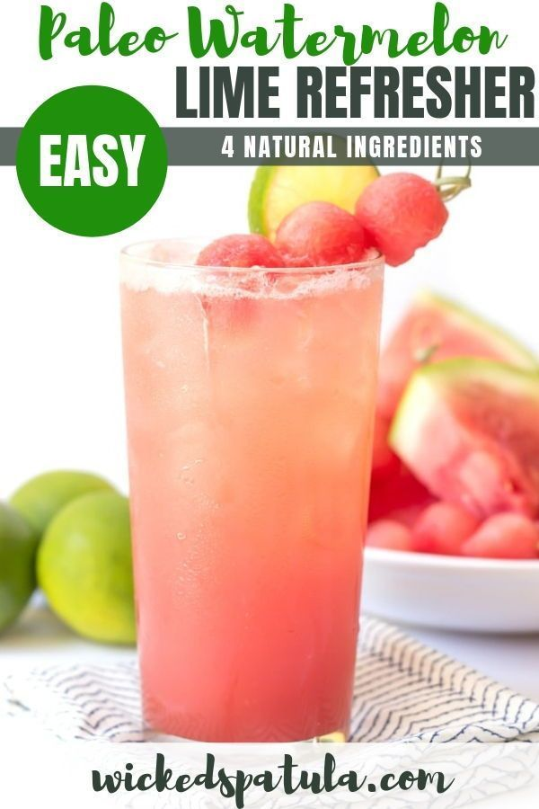 Watermelon Lime Refresher This Watermelon Lime Refresher Is A Natural Sports Drink It Contains Paleo Drinks Paleo Dessert Recipes Easy Coconut Water Recipes