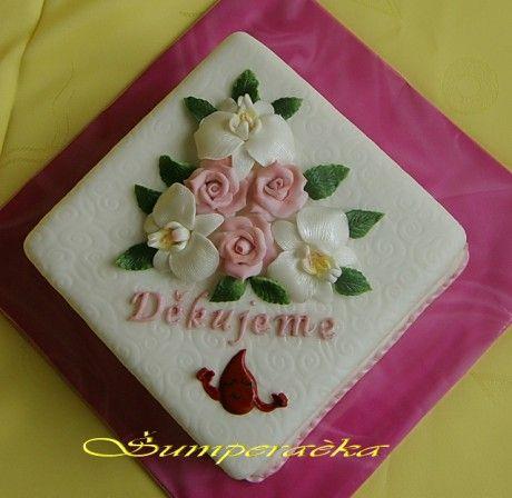 Dorty pro potěšení a inspiraci - Fotoalbum - Květinové dorty - S růžemi k sedmnáctinám