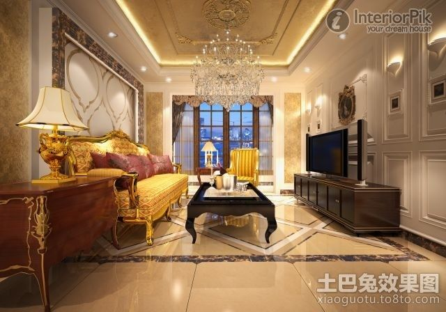 Neo classical style design of the living room ceiling - Living room definition architecture ...
