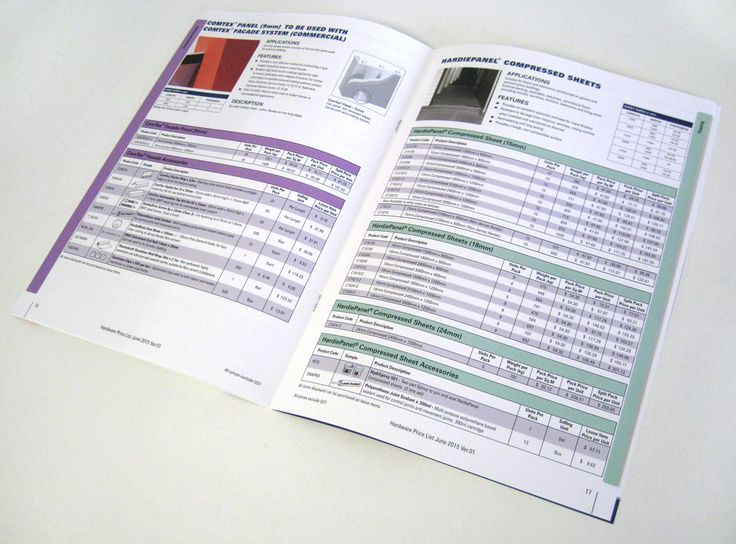 Melbourne printer- Minuteman Press Epping- A pricelist in booklet form for CSP Architectural.  #melbourneprinter