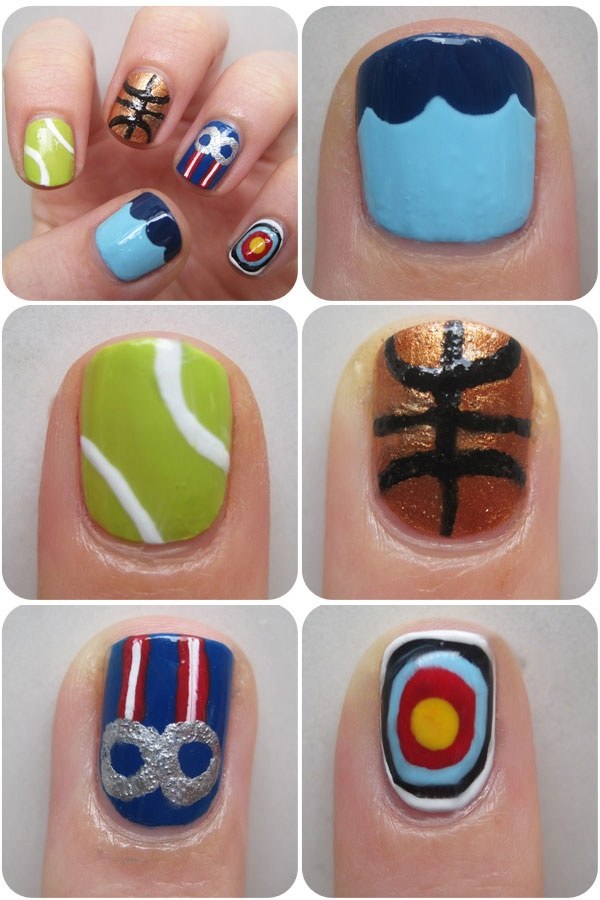92 best olympic nail art images on pinterest nail art nail art olympic nail art prinsesfo Choice Image