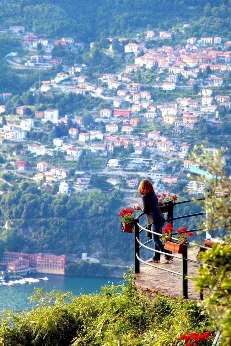 Lake como from Brunate, Italy.