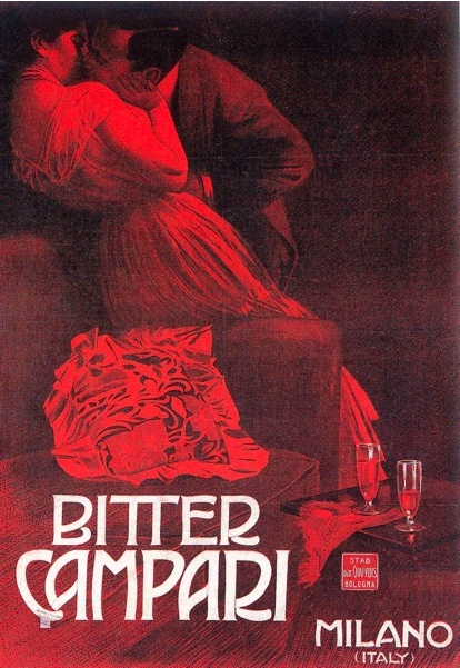 By Werbung, 1910, Bitter Campari, Milano, Italy.