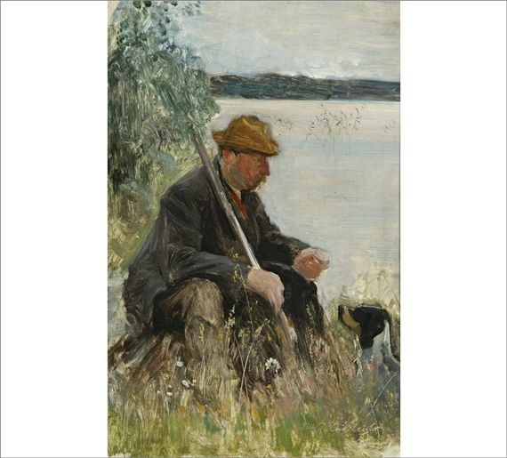 Eero Järnefelt, Man with a Dog
