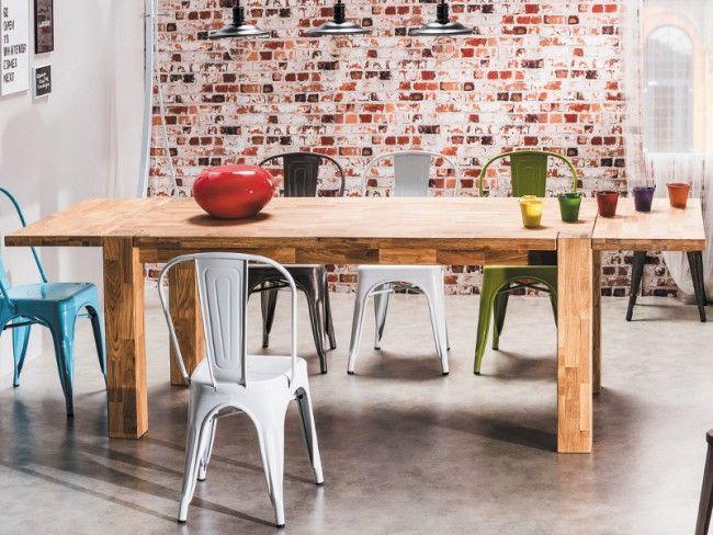 Dubový stůl 180 x 90 cm se dvěma nadstavbami