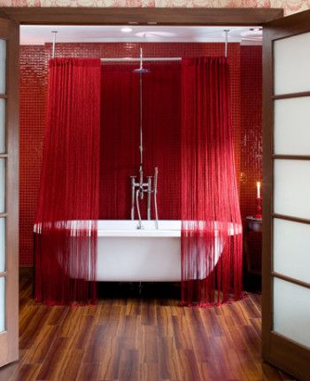 Best RED IntErioR Images On Pinterest Architecture Bright - Bright red color activating romance accentuating bold bedroom designs