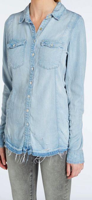 BlankNYC Brain Bleach Denim Shirt