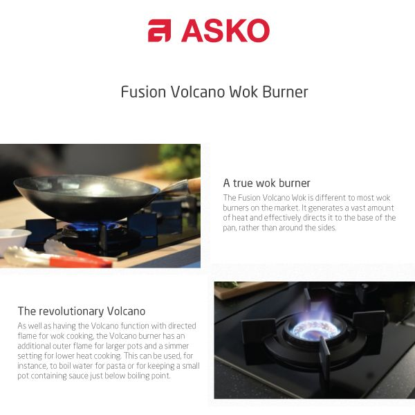 The Fusion Volcano Wok is different to most wok burners on the market. It generates a vast amount of heat and effectively directs it to the base of the pan, rather than around the sides.