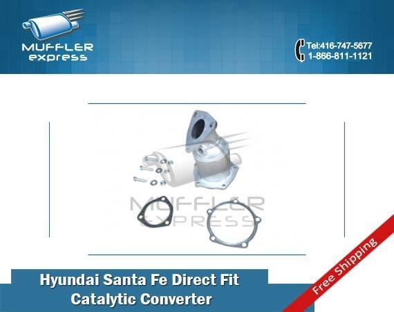 To buy discounted #Hyundai Santa FE direct fit #catalyticconverter kit in GTA, visit Muffler Express-online exhaust spares Wholesalers.