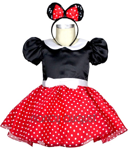 #Baby #Minnie #Mouse #Costume with Ears and Mini Skirt:This baby minnie mouse costume is too sweet to pass up this Halloween season. This deluxe 3 piece ensemble features a one piece black bodice with bell pouf short sleeves and a attached super short red and white polka dot mini skirt. The white waistband is adorned with a petite white detachable bow.This baby minnie mouse outfit also comes with the all famous mickey mouse ears headband with a red bow tie to complete the look.