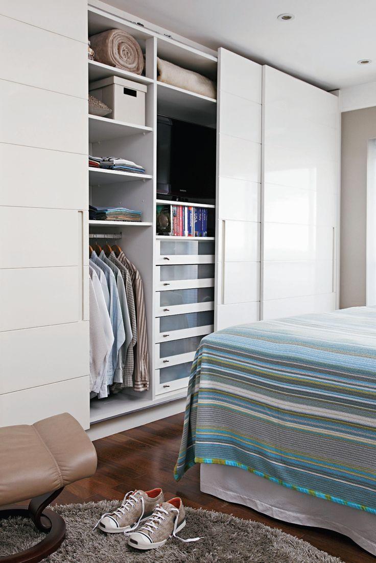 25 melhores ideias sobre guarda roupa com tv no pinterest for Cama sobre armario