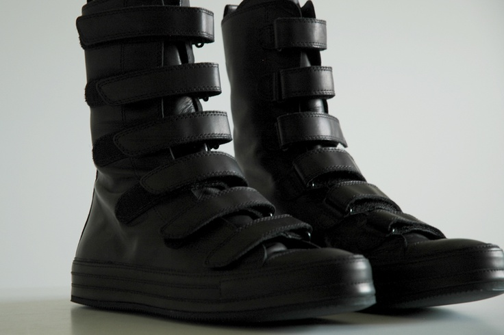 High leather sneakers with straps by Ann Demeulemeester SS11