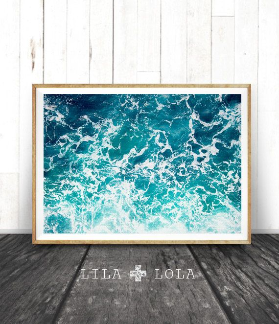 Beach Print Ocean Decor Coastal Beach Art Turquoise by LILAxLOLA