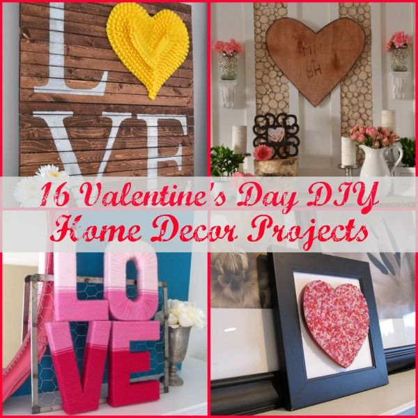 16 DIY Valentine's Day Home Decor Projects. blog.homes.com/… #ValentinesDay …