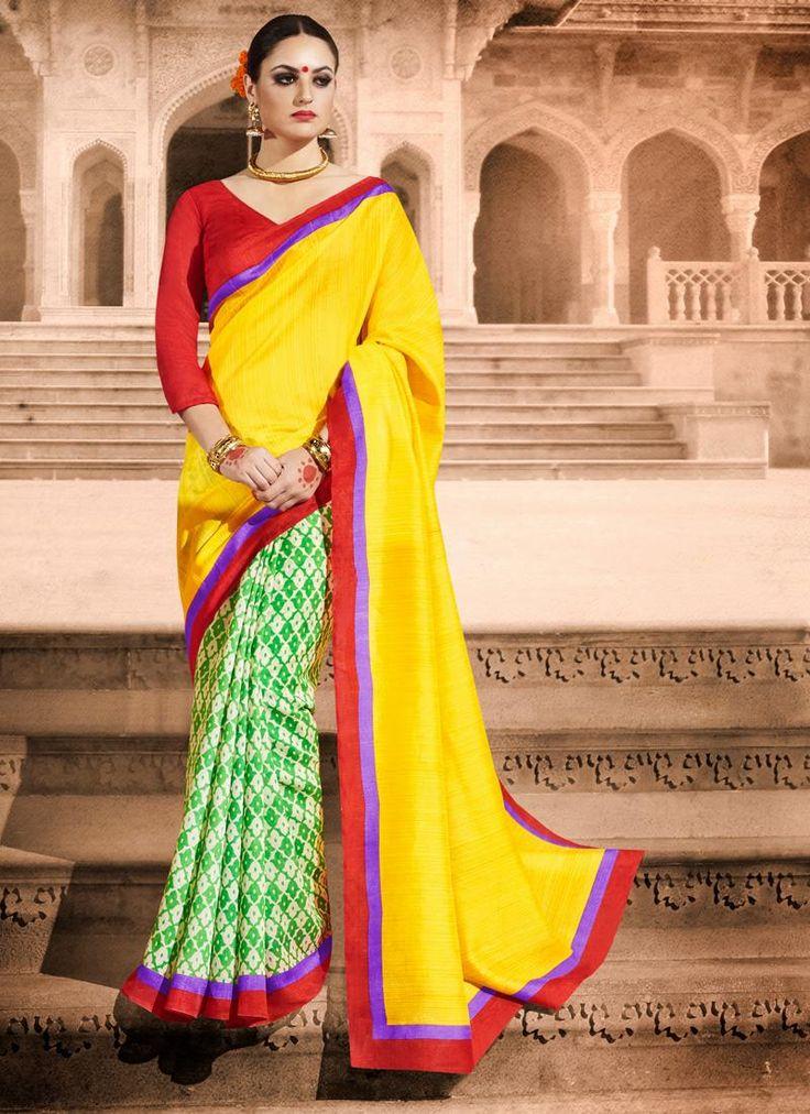 Ideal Bhagalpuri Silk Lace Work Casual Saree